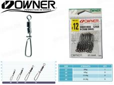 Owner Sinker Hook w/ Crane Swivel
